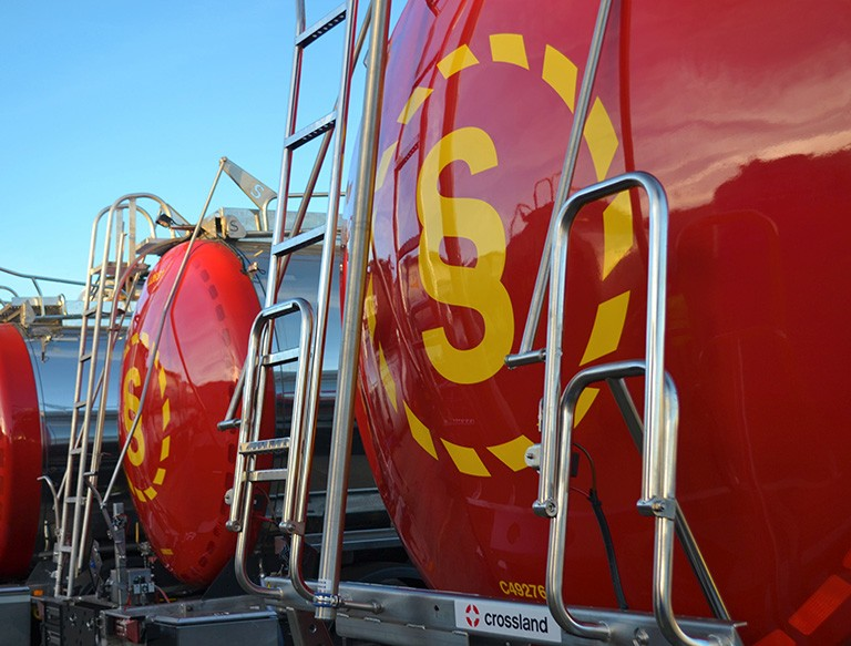 Suttons logo on tanker