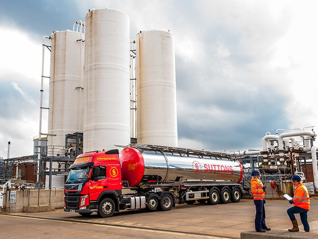 Suttons tanker on site